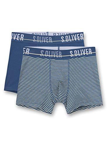 s.Oliver Jungen Hipshorts im Doppelpack blau Boxershorts, Ink Blue, 176