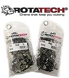 Rotatech Lot de 2 chaînes de tronçonneuse à 68 maillons de 8,3 x 1,6mm - longueur de 45cm, compatible avec tronçonneuses Stihl, Husqvarna, Dolmar, Makita, et autres
