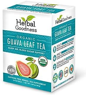 Guava Leaf Tea - Carb Blocker | Fat Burner | Blood Sugar Support | Hair Re-Growth, Skin & Nails | Sleep Aid - Organic, Kos...