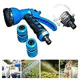 A/S Pistolas de pulverización 1/2'Tubo de Agua Spray Lavado de Autos Manguera de jardín Pistola de Agua Lavadora de Autos Herramienta de Limpieza JXHOME (Size : Water Gun+Connector Set)
