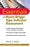Essentials of Myers-Briggs Type Indicator Assessment (Essentials of Psychological Assessment Book 14)