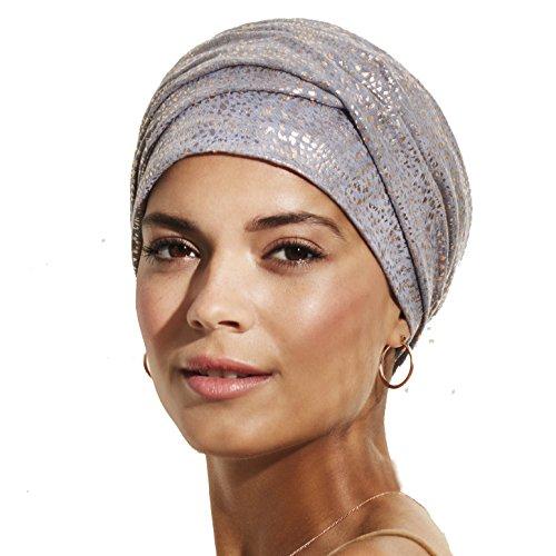 Gorro de quimioterapia Nueva colección Primavera-Verano (Gris Jaspeado con Dorado)