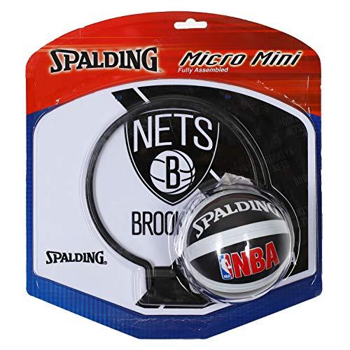 Spalding - 2013 NBA Team Micro Mini Backboard Set? Brooklyn Nets Backboard Set