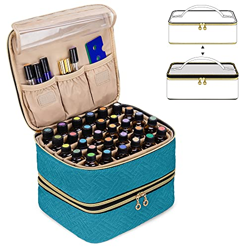 Luxja Detachable 2 Layers Essential Oil Case - Hold 60 Bottles (5ml -...