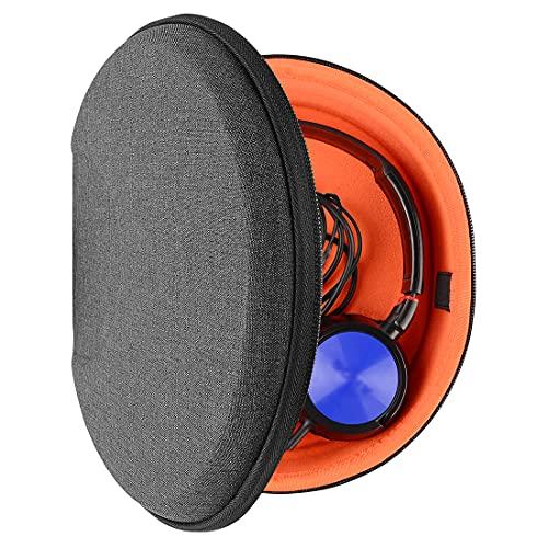 Geekria Funda para Auriculares Sony MDR-ZX100, MDR-ZX110, MDR-ZX300s, MDR-ZX310AP, MDR-10RBT, MDR-NC6, Beats Solo HD, Estuch Rígido de Transporte, Viaje Bolsa