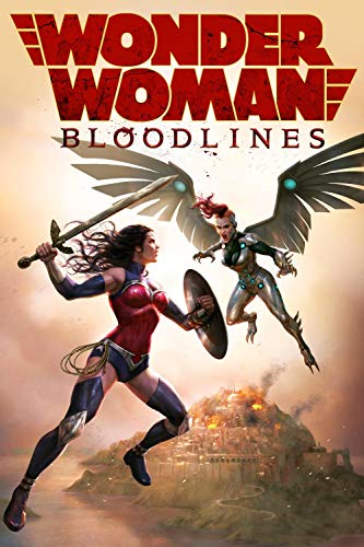 Mutuco 1000 Piezas Rompecabezas de Madera - Carteles de películas de Wonder Woman: Bloodlines - Rompecabezas de Adultos y niños, lo Mejor para la colección de Juegos Familiares