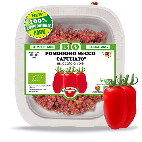 'CAPULIATO' di Ciappa Pomodori Secchi BIO TRITATI in vassoio compostabile da 150 g