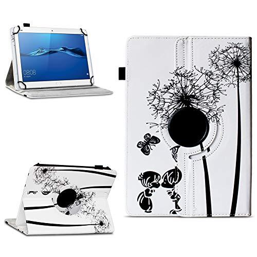 NAmobile Schutzhülle kompatibel für Huawei MediaPad T1 T2 T3 T5 10 Tablet Hülle Tasche Schutzhülle Hülle 360 Drehbar, Farben:Motiv 8