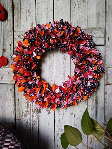 Paw Print Front Door Wreath
