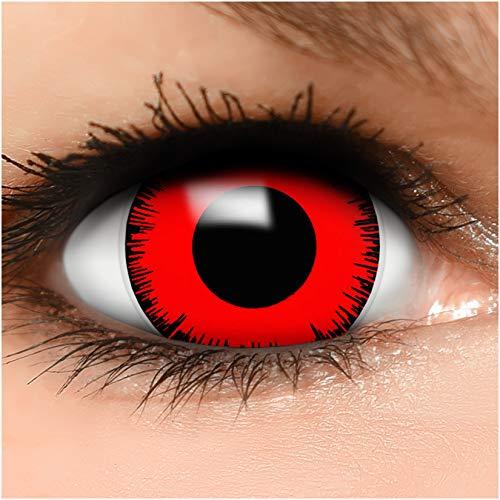 Farbige Maxi Sclera Kontaktlinsen Lenses Volturi inkl. Behälter - Top Linsenfinder Markenqualität, 1Paar (2 Stück)