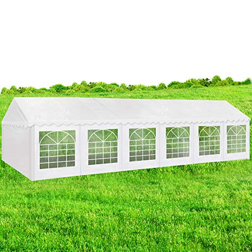 AMERICAN PHOENIX Party Tent 40x20 Heavy Duty Large White Roof Commercial Fair Car Shelter Wedding Events Canopy Tent (40x20)