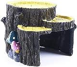 Decoración del Tanque De La Resina De La Escultura del Ornamento del Tocón del Acuario De La Casa De Refugio De Acuario 16x15x12.5cm MUMUJIN