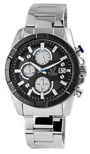 Pierrini Herren Armbanduhr 2910-010 Edelstahlband Chronograph Quarz 291021100010
