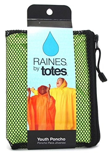 Raines Rain Poncho Youth Size Assorted Colors (2 Pack)