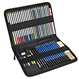 Juego de lápices de dibujo, lápices de colores, kit de lápices de nailon duradero para dibujar, profesional para estudiantes, aficionados al dibujo