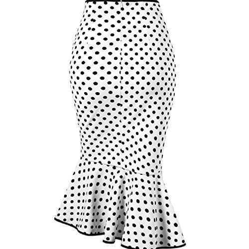 Vectry Faldas Blanco Falda De Flamenca Faldas Largas Verano Mujer Faldas Mujer Cortas Falda De Tul Mujer Faldas De Tubo Mujer Falda Vaquera Mujer Falda con Vuelo