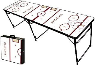 8-Foot Professional Beer Pong Table w/Optional Cup Holes - Phoenix Hockey Rink Graphic