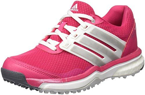 adidas Adipower Sport Boost 2 Zapatos de Golf, Mujer, Rosa/Blanco/Plata, 36.6