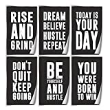 Inspirational Wall Art Quotes Wall Decor Posters (6) 11x17 on Thick 130LB Paper | Dorm Decor for College Girls & Boys | Motivational Wall Art | Sayings For Wall Decor | Support Gifts Women Men Friends