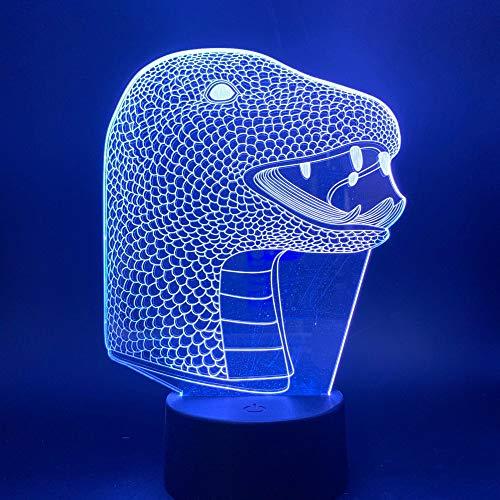 QAZEDC 3D Nachtlicht 3d lampe schlange tier nachtlicht für kinder geburtstagsgeschenk schlafzimmer tier lampe schlange für kinder nachtlichter novettly led nachtlicht(Kostenloser Versand)