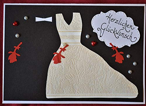 Glückwunschkarte Hochzeit mit Text auf dem Innenblatt