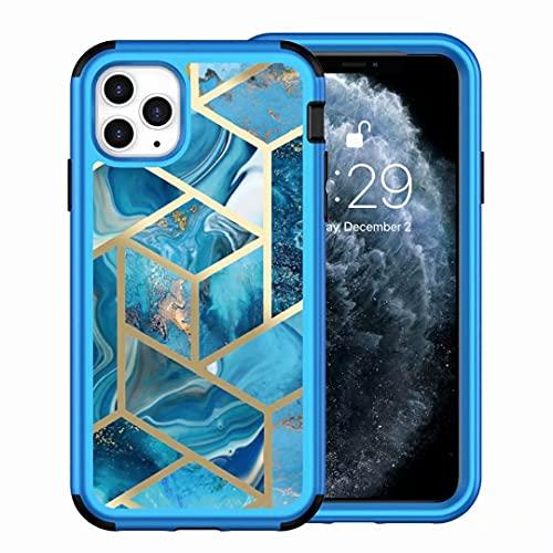 Funda para iPhone Xr, delgada, elegante, con diseño geométrico de mármol, a prueba de golpes, carcasa protectora de plástico duro para iPhone Xr azul
