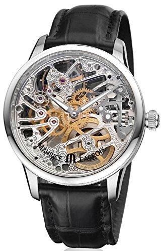 Maurice Lacroix mp7208-ss001–000–Uhr für Männer, Lederband schwarz