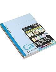 Kokuyo Campus Tokyo University Todai Series gelijnd notitieboek, Semi B5 (252 x 179 x 4 mm), 6 mm-gelinieerde x35-lijnen, 30 pagina's, verpakking met 5 notitieblokken met 5 dekkleuren, gemaakt in Japan 3CBNx5