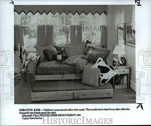 Historic Images - 1995 Press Photo Kreative Kids Offers a Trundle Bed Perfect for sleepovers