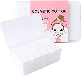 WXWIN 1000pcs Makeup Facial Cotton pads, nail polish remover pads, lint free Nail Wipes facial eye make up wipes, square cosmetic cotton pads, Non-woven cotton Makeup Remover, Random Color