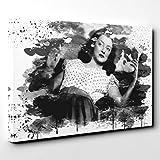 BIG Box Art 0 Leinwandbild 50x35cm Bette Davis V3, Holz,