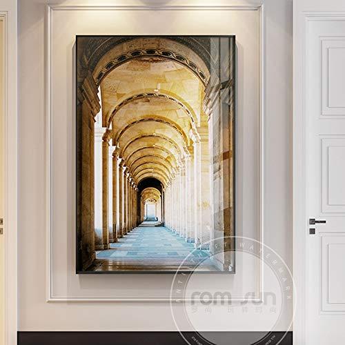 Geen frame gekleurde hoed, Endless gallery canvas olie, drukkerij, schoolbehang40x60cm