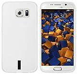mumbi Custodia compatibile con Samsung Galaxy S6/S6 Duos, chiaro bianco