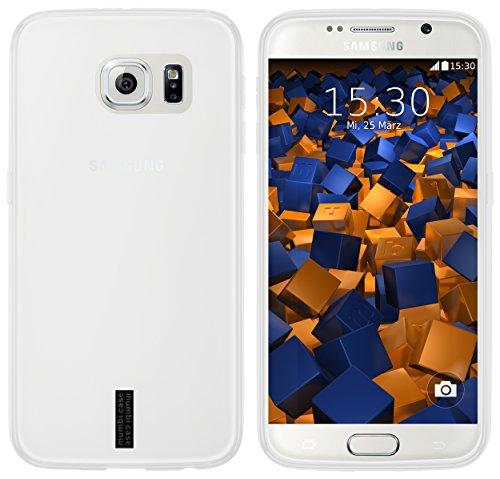 mumbi Funda compatible con Samsung Galaxy S6 / S6 Duos Caja del teléfono móvil, blanco transparente
