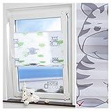 ourdeco® Plissee Motiv Hanni und Luc / 80 x 130 cm (Breite