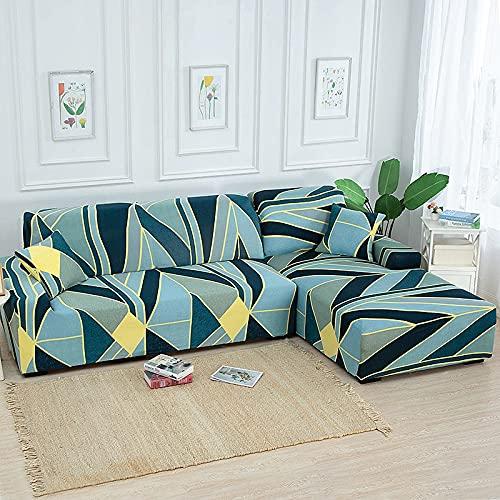 ASCV Funda de sofá Estampada Funda elástica para Muebles Funda de sofá elástica para Sala de Estar Funda de sofá Modular Funda de sofá 1/2/3/4 Asiento A8 1 Plaza