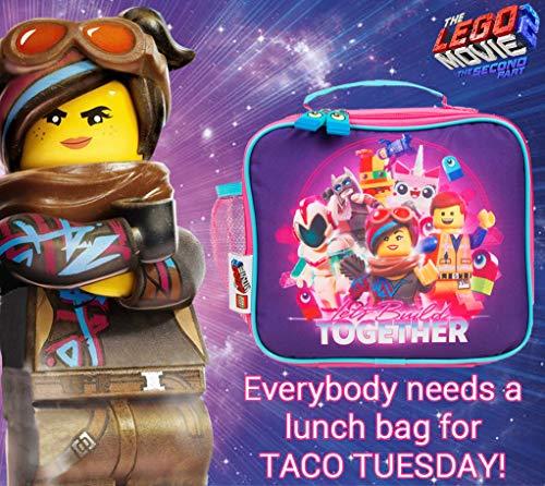 LEGO Movie 2 Bolsa Merienda Infantil Ni/ña con Bolsillo Fiambrera Infantil para Ni/ñas
