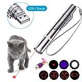 OUTERDO LED Pointer, LED Pointer USB wiederaufladbar Haustier Interaktives Spielzeug und eine...