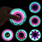 Fidget Spinner LED Flash Light Various Glow Patterns in The Dark Stress Relief