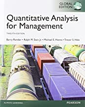 By Barry Render - Quantitative Analysis for Management, Global Edition (12th Edition) (2014-06-06) [Paperback]