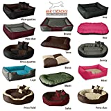 BedDog 2in1 Hundebett BONA L bis XXXL, 5 Farben wählbar, Hundekissen Hundesofa Hundekorb, schwarz/braun XL - 4