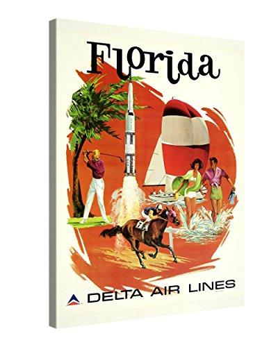 Gallery of Innovative Art - Vintage Art - Florida - 75x100cm – Larga Stampa su Tela per Decorazione murale – Immagine su Tela su Telaio in Legno – Stampa su Tela Giclée – Arazzo Decorazione murale