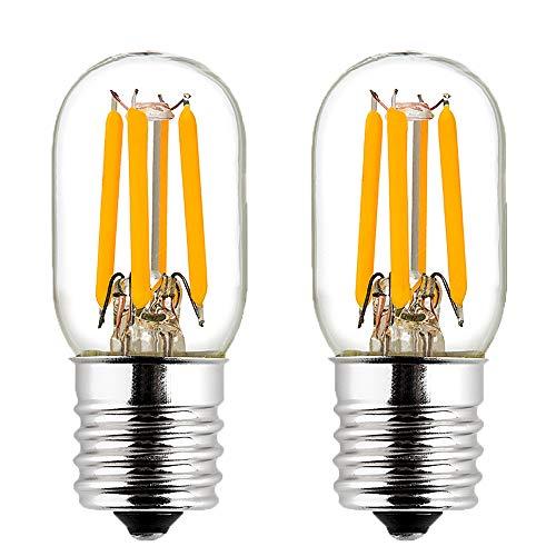 LiteHistory E17 led Bulb ETL 25w Appliance t7 led Bulb 250lm 2700K 2w Microwave Light Bulb 2Pack