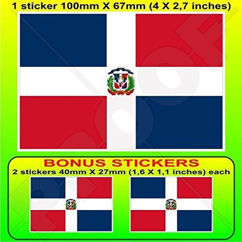 DOMINICAINE RÉPUBLIQUE Drapeau Nationale, Enseigne d'état de Guerre, 100mm Vinyle Autocollant, x1+2 BONUS Stickers