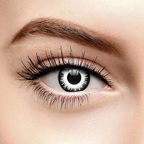 Chromaview Lunar Eclipse Farbige Kontaktlinsen Ohne Stärke Weiß (Tageslinsen)