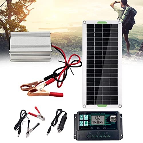 Doherty Panel Solar, Sistema de Panel Solar Monocristalino, Kit de Inversor Solar Completo Portátil...