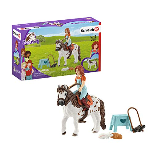 Schleich 42518 Horse Club Spielset - Horse Club Mia & Spotty, Spielzeug ab 5 Jahren