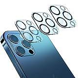 『業界最新改良モデル』Biming 3枚入り iphone12 Pro Max 用 カメラフィルム レンズ保護フィルム フラッシュ穴黒縁取り 露出オーバー防止 フレアシールド対応 強化ガラスフィルム 旭硝子素材 9H硬度 キズ防止 ガラスフィルム 耐衝撃 高透明度 防滴 防塵 極薄 カメラ全体保護フィルム(6.7インチ3枚セット) 貼り付け簡単 気泡ゼロ 自動吸着 飛散防止 撥水撥油 カメラレンズ強化フィルム