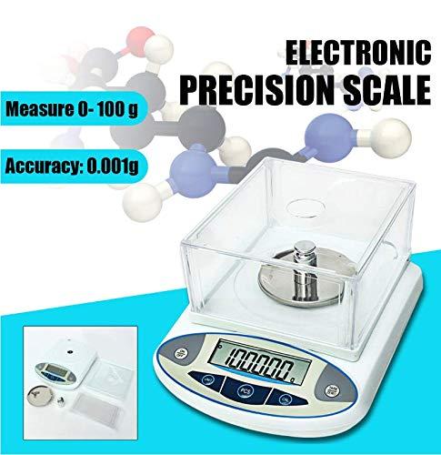 100x0,001g 1mg digitale LCD laboratorium analytische weegschaal elektronische precisie sieradenweegschaal mini draagbare weegschaal 100 g