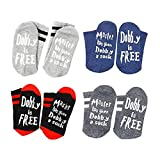 Gobesty Dobby a Sock, 4 Paare Socken Herren Damen, Dobby Socken Knöchel Baumwoll Socks Unisex Neuheit Socken für Harry Fans Damen Herren